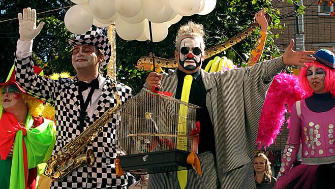 Клоуны на дне города калуги 2014
