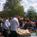 Полевая кухня на площади Победы