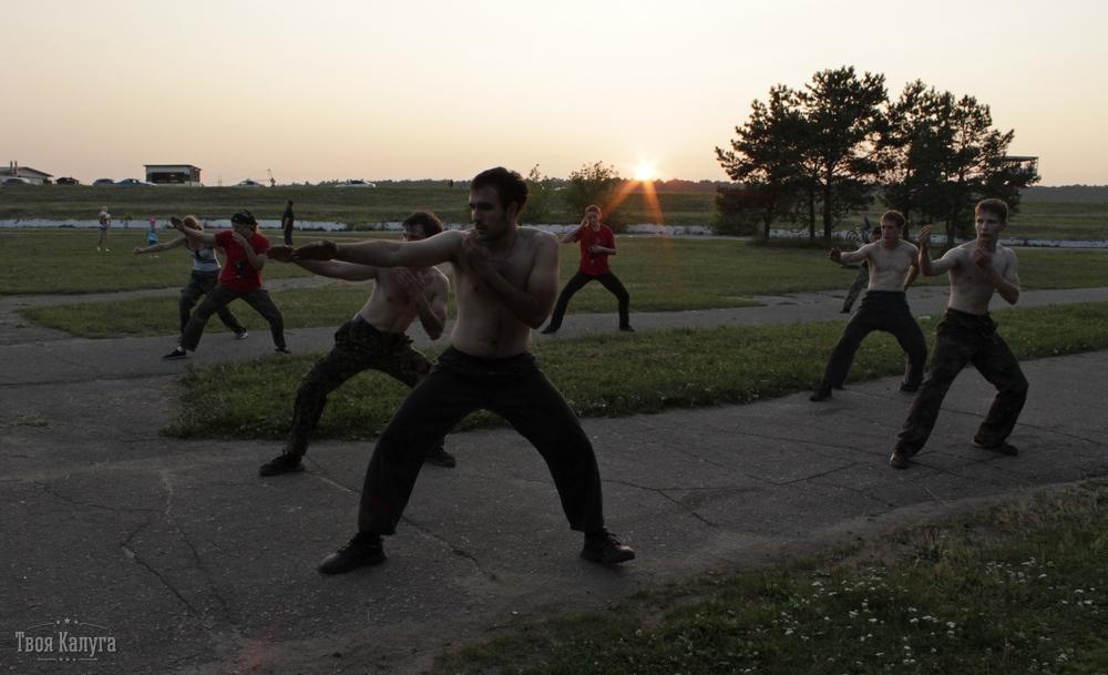 Калужские ниндзя на тренировке - копия