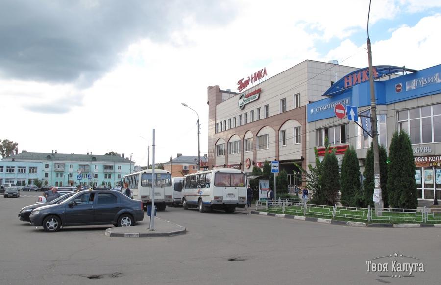 Торговый центр Ника. Остановка автобусов до Боровска