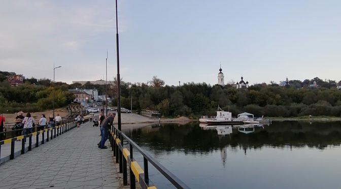 Новый понтонный мост в Калуге. Фото